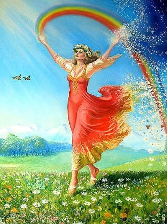От тепла и любви Живы расцветает весь мир