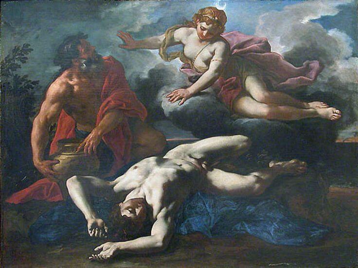 Даниэль Сайтер. Смерть Ориона (1685 г.)