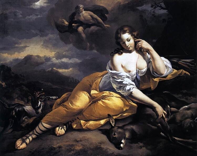 Нимфа Каллисто и влюблённый Юпитер
