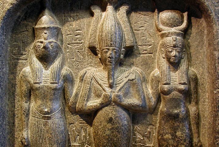 Исида, Осирис и Гор -самая знаменитая семья египетских мифов