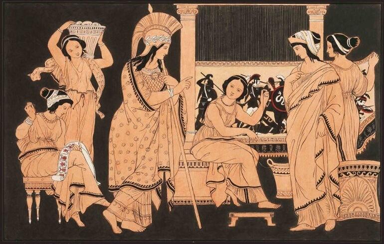 Арахна - самая талантливая ткачиха Греции