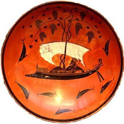 Сосуд с изображением Диониса на пиратском корабле