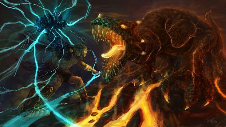 Сражение Зевса и Тифона стало одной из самых известных мифологических битв