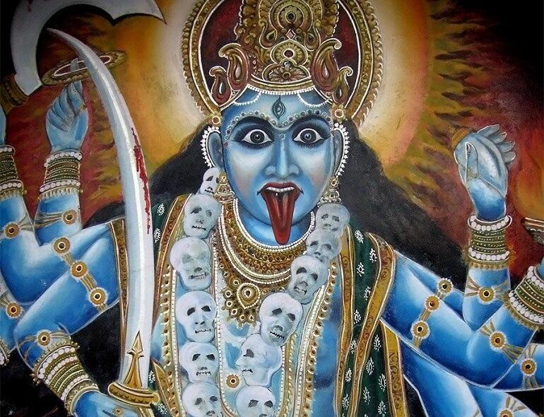Кали - устрашающая индийская богиня