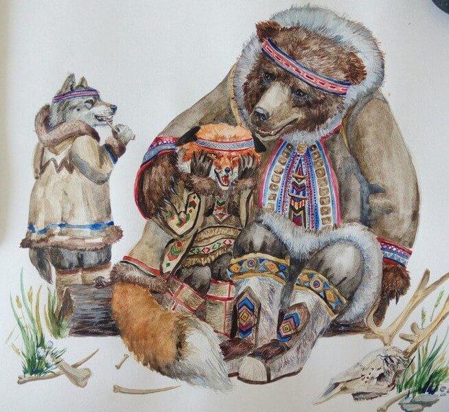 Медведь - священный зверь эвенков