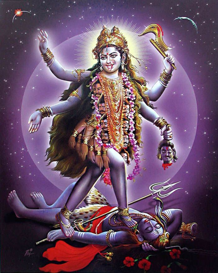 Остановить Кали смог только великий Шива