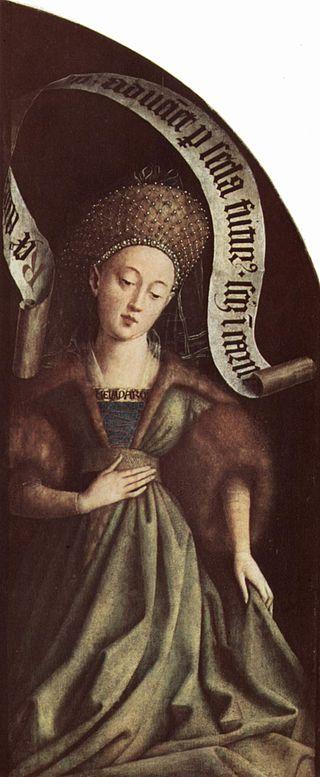 Изображение Кумской сивиллы на Гентском алтаре