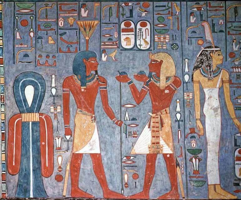 Нефертум на древнеегипетской фреске