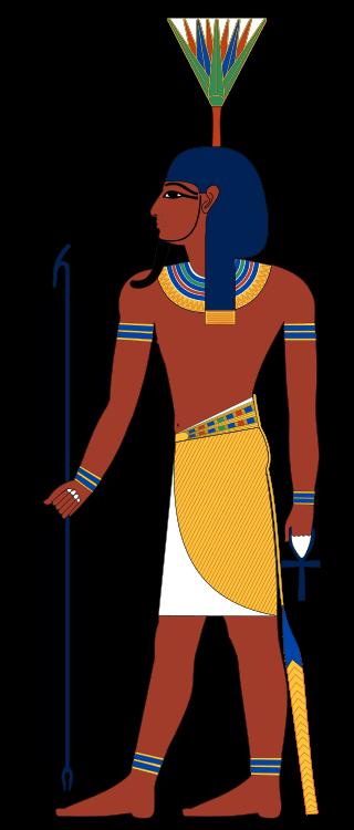 Нефртум изображался юношей с цветочной короной