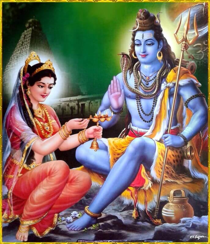 Прекрасная пара богов Индии - Шива и Парвати