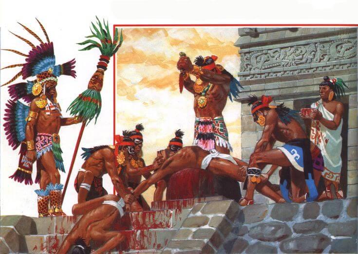 Религия ацтеков была кровожадной и жестокой
