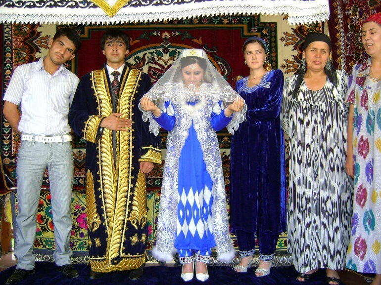 Свадебная церемония в Таджикистане