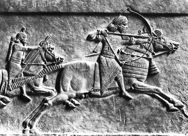Изображение воинов хурритов