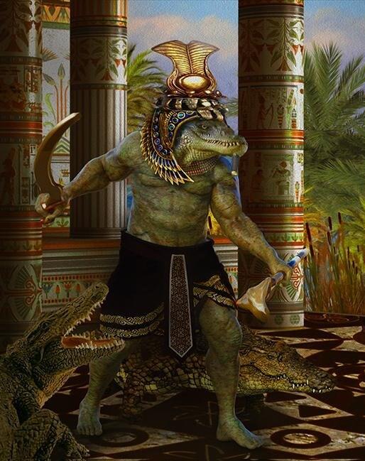 Несмотря на жуткий вид, Себек считался добрым божеством