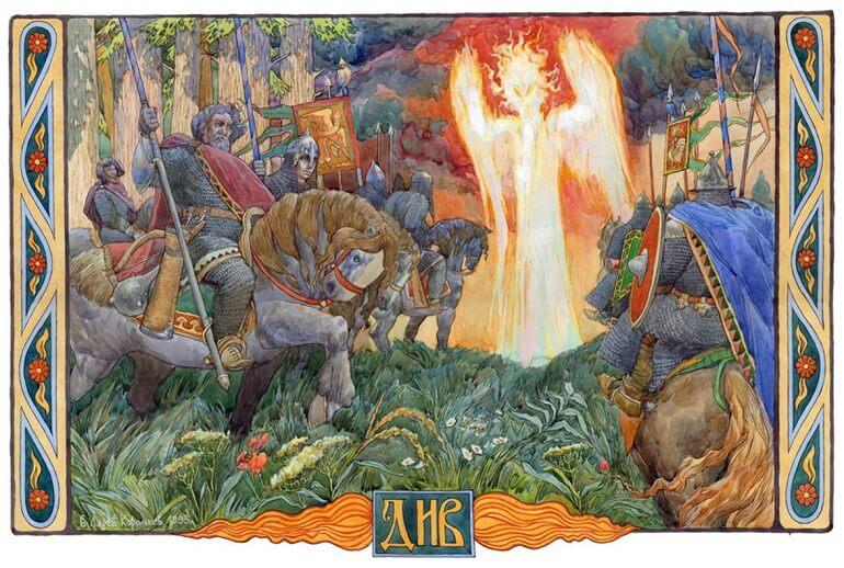 Поздние предания описывают Дыя как злое божество