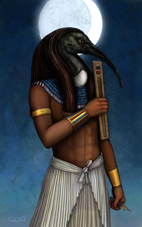 Тота часто называют лунным божеством и покровителем магов
