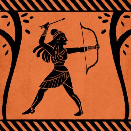 Изображение охотницы Аталанты