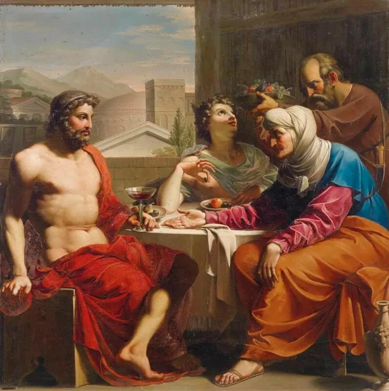 Андреа Аппиани. Юпитер и Меркурий с Филемоном и Бавкидой