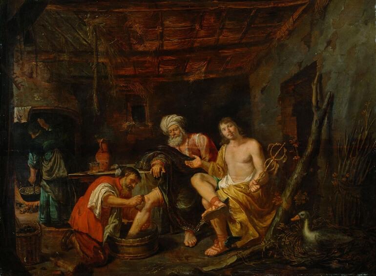 Филипп Гизелаер. Юпитер и Меркурий в доме Филемона и Бавкиды