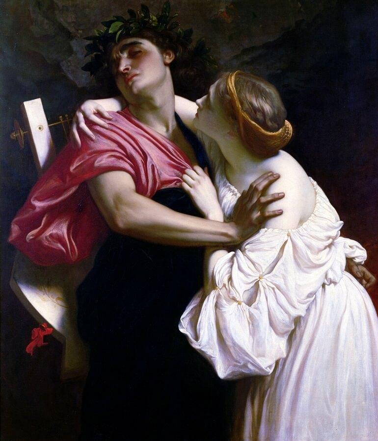 Фредерик Лейтон. Орфей и Эвридика