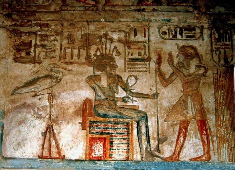 Изображение Хапи и Рамзеса III в Луксоре