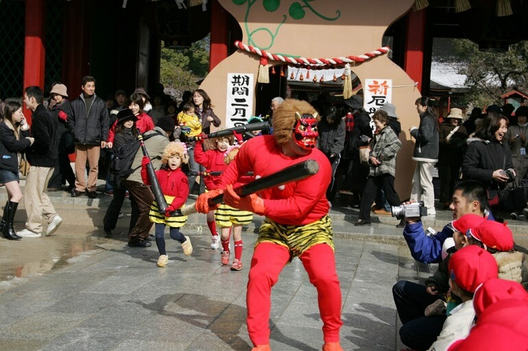 Обряды Сэцубун направлены на борьбу с демонами