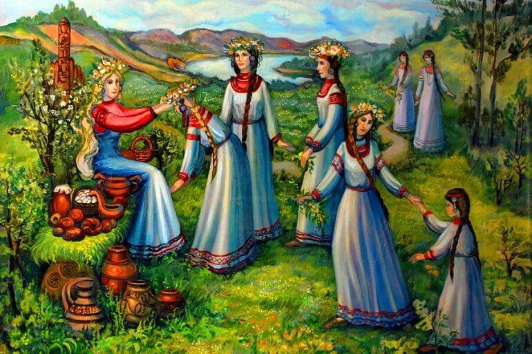 Празднование Русалий было связано со многими обрядами