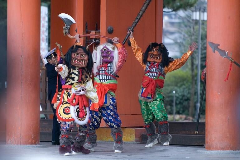 Сэцубун - весёлый карнавал