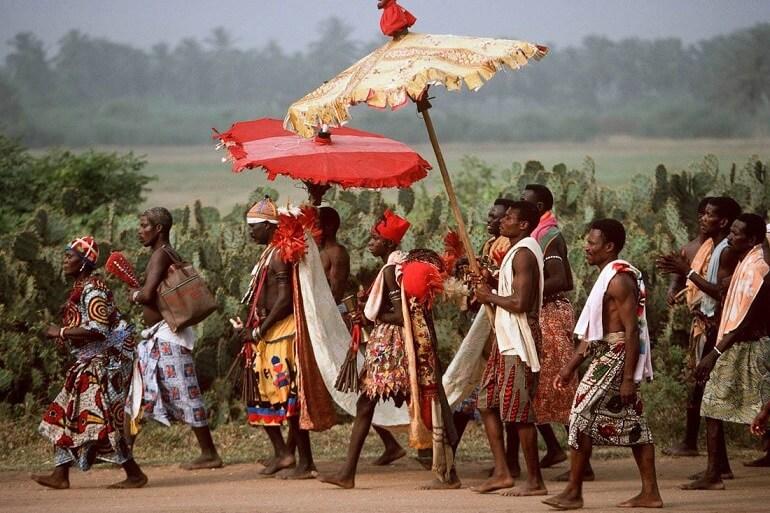 Церемония на праздновании Осун-Осогбо