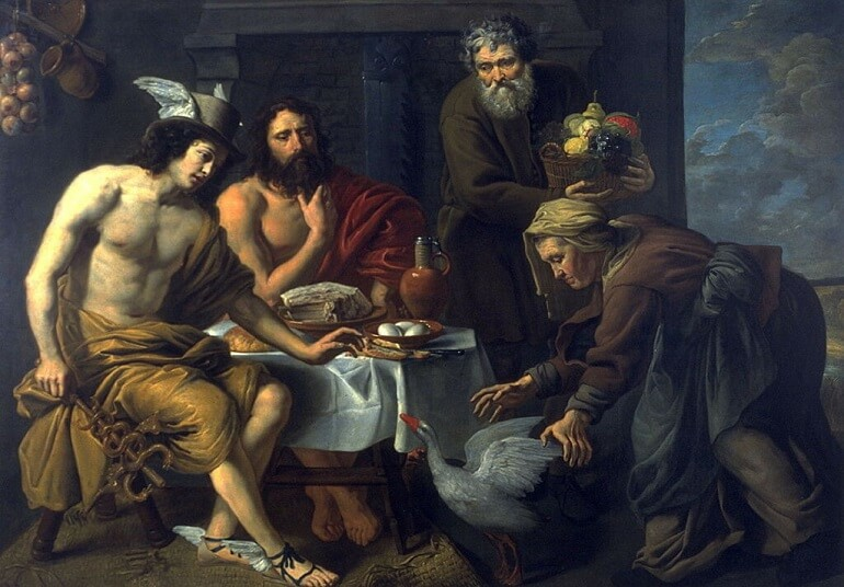 Якоб ван Оост. Меркурий и Юпитер у Филемона и Бавкиды