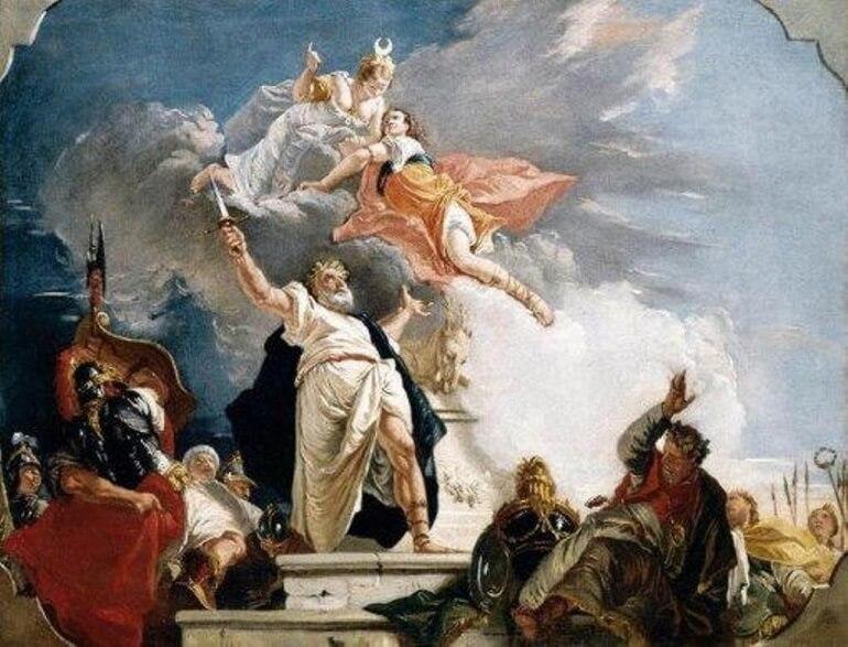 Артемида забирает Ифигению