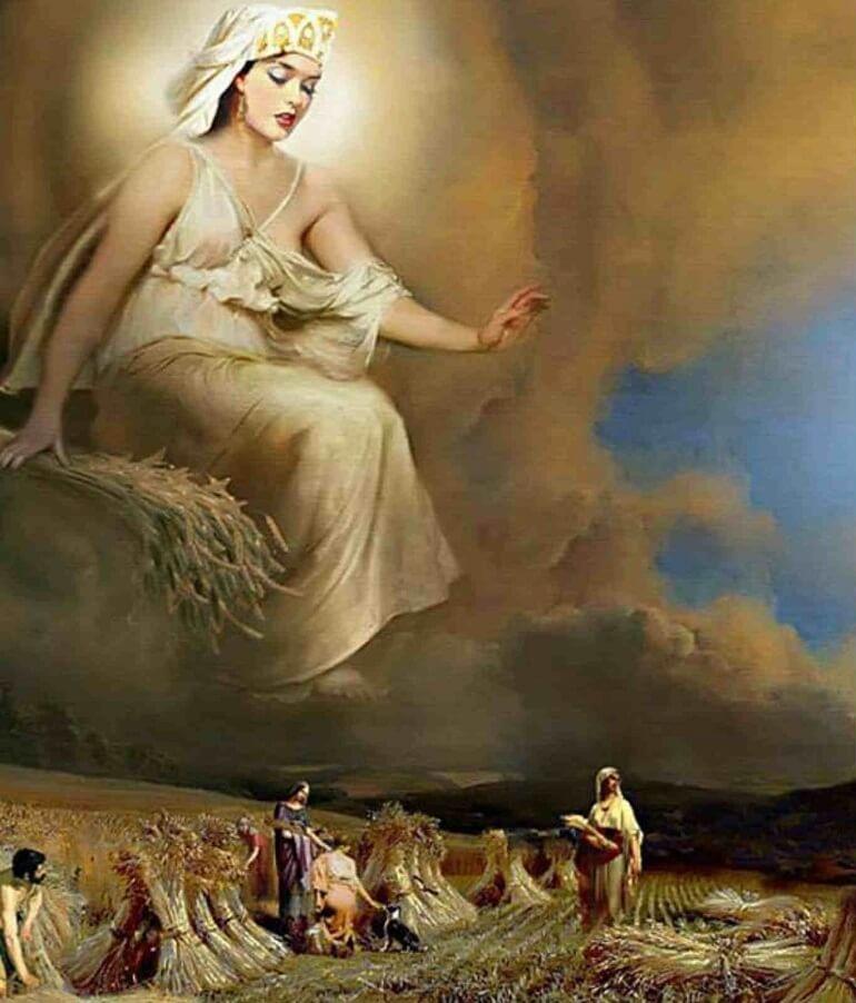 Деметра - щедрая богиня плодородия Древней Греции