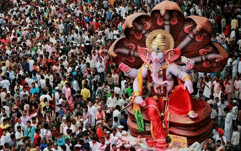 Ганеша-Чатуртхи - один из главных праздников Индии
