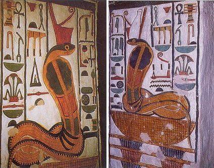 Изображения Уаджет - покровительницы Нижнего Египта