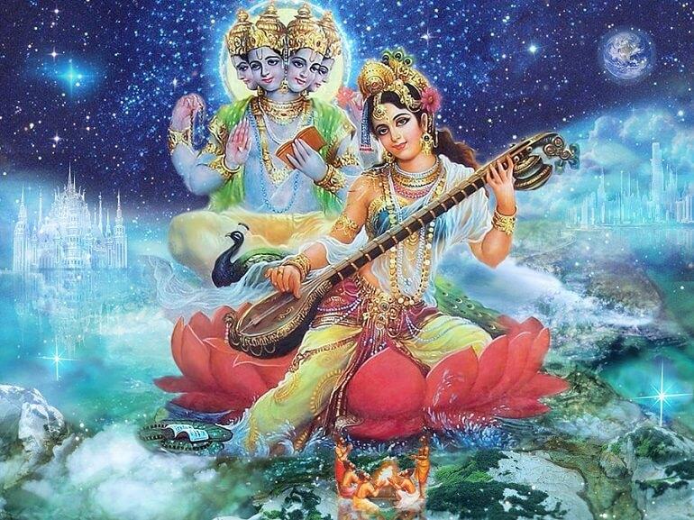 Отношения Сарасвати и Брахмы были очень непростыми