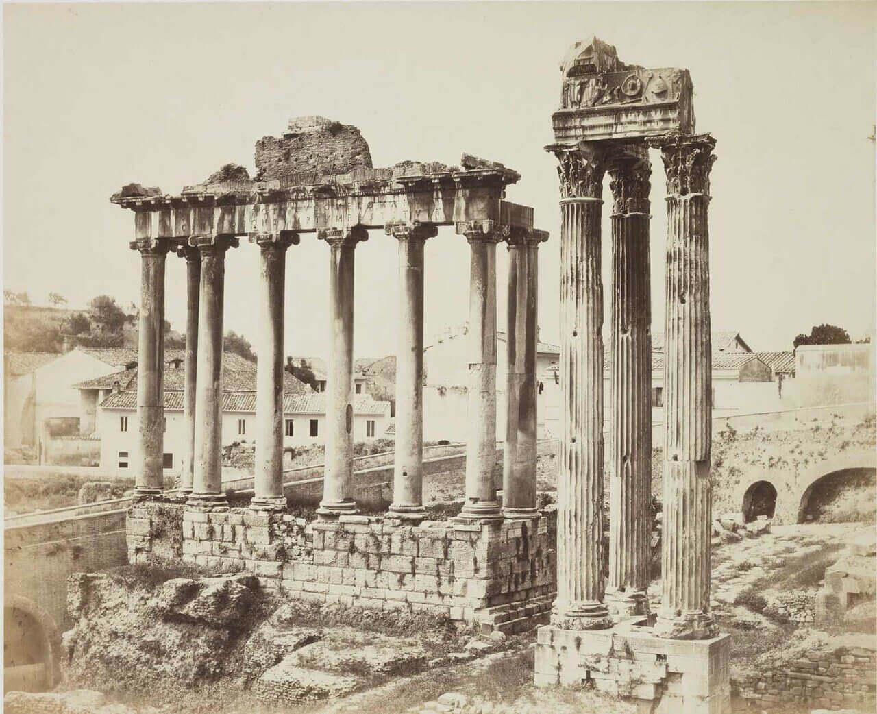 Храм Сатурна и Храм Веспасиана, Рим, 1860-е годы.