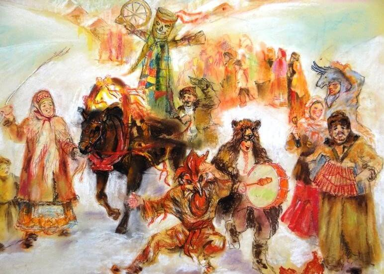 На Руси Комоедицу праздновали весело и шумно