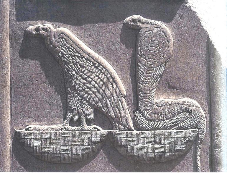 Нехбет и Уаджет - богини Верхнего и Нижнего Египта