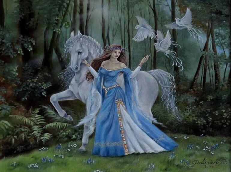 Рианнон - кельтская покровительница лошадей