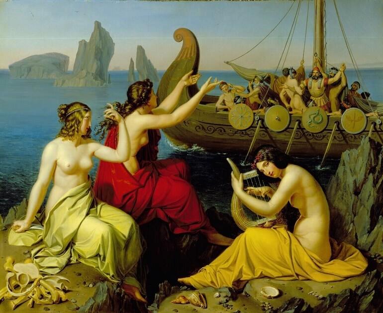 Сирены жили на отдалённом острове в море