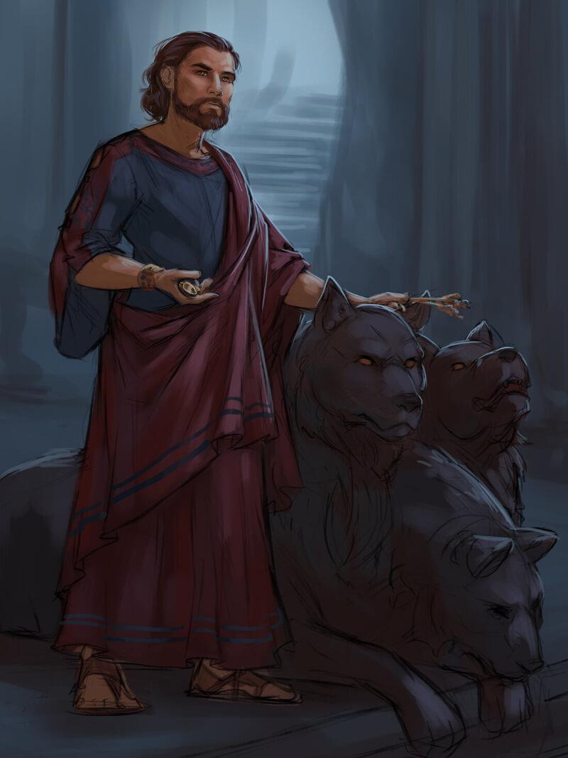 Цербер и его хозяин - бог Аид