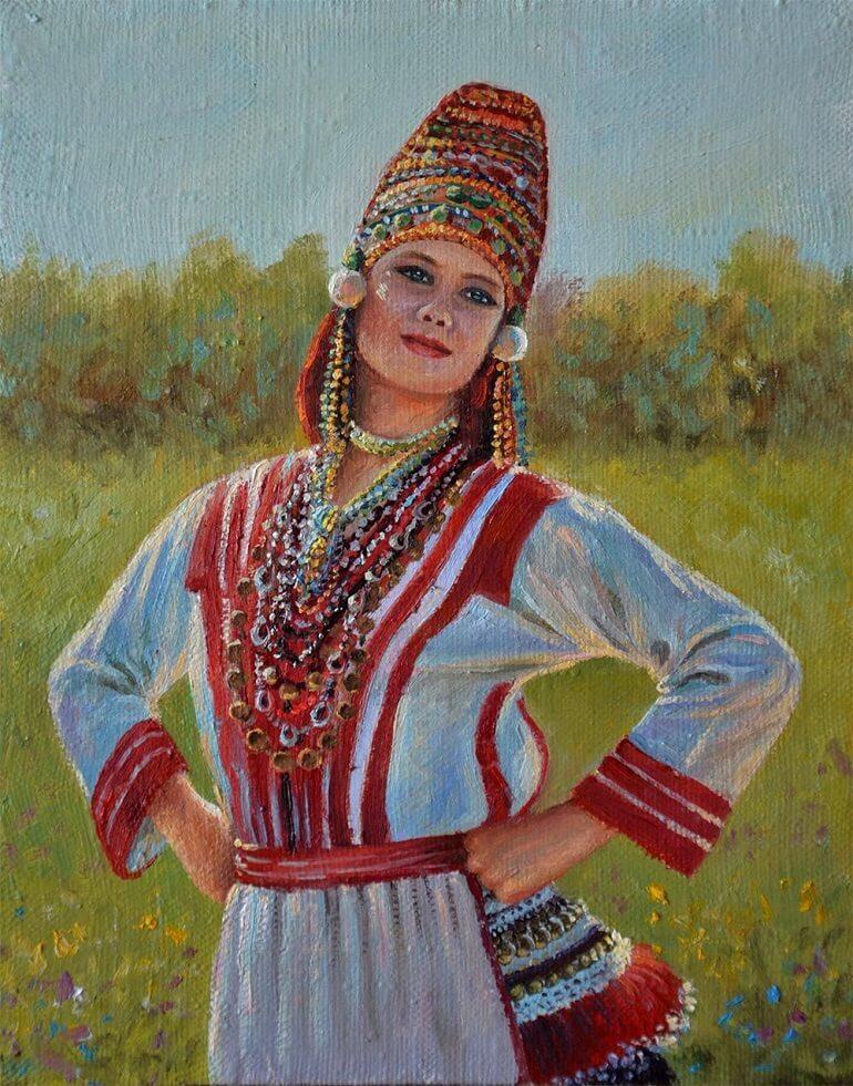 Женский национальный костюм эрзян