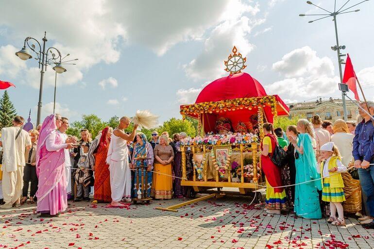 Ратха-Ятра за пределами Индии - в Перми