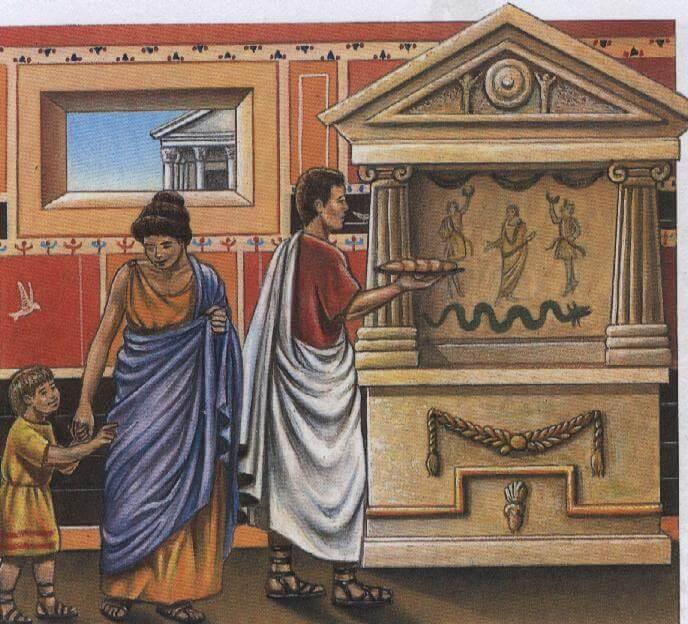 Своим покровителям римляне приносили щедрые дары