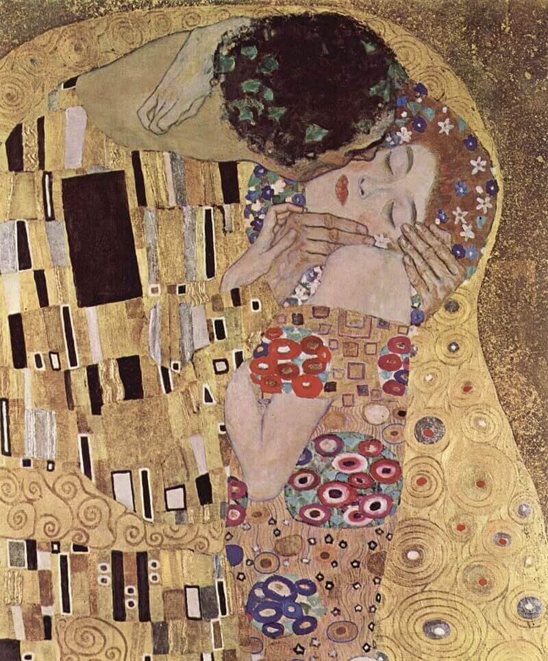 Фрагмент картины «Поцелуй» Густава Климта