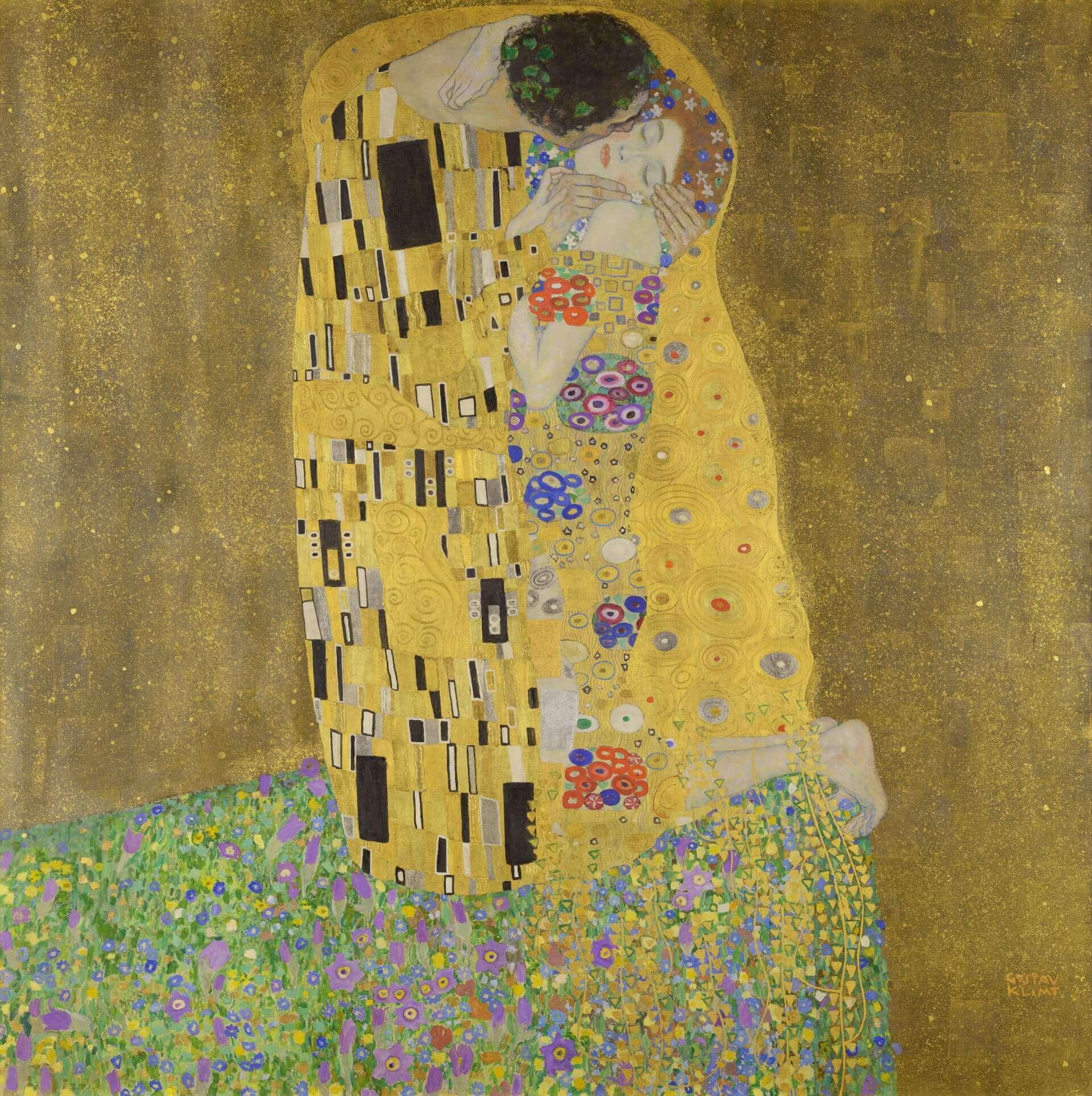 Картина «Поцелуй» Климта