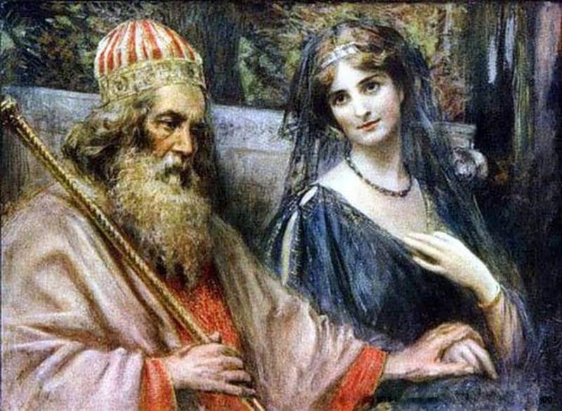 Менелай и его жена, Елена Прекрасная