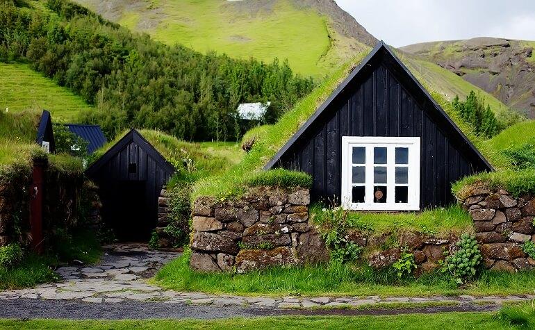 Традиционные жилища в Исландии