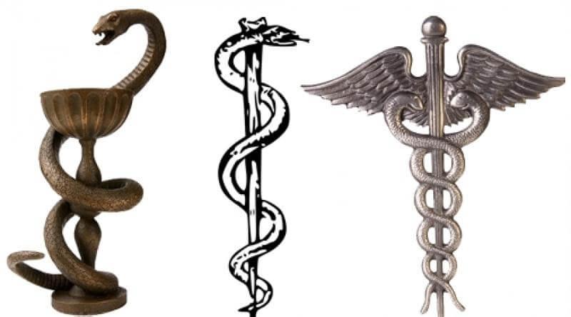 Знаменитые символы Асклепия