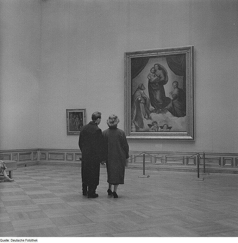 «Сикстинская мадонна» в Дрезденской галерее